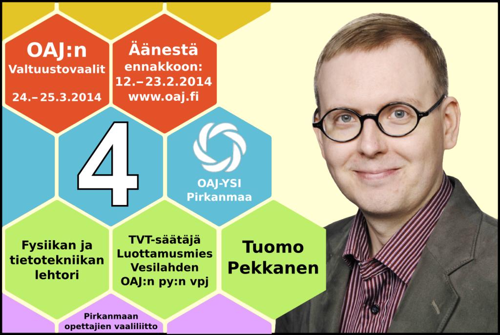 OAJ: Valtuustovaalie 2014