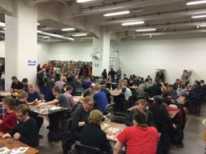 Lauantaina tila oli täynnä pelaajia!